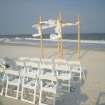 Myrtle Beach Chuppah set up with chairs