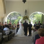 Wedding Ceremony on patio