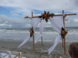 Lovely, casual beach wedding
